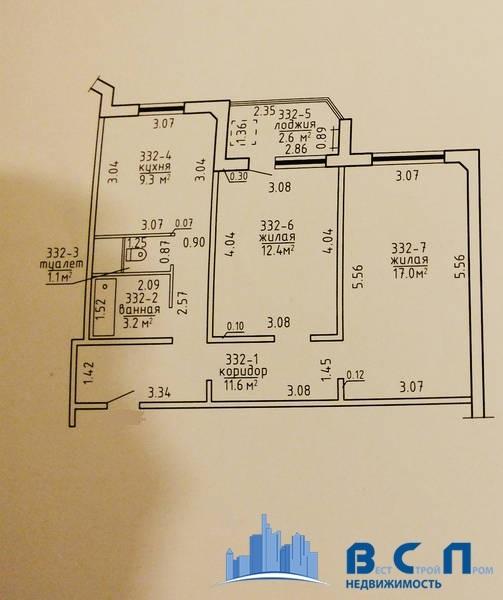 план квартиры зеленый бор